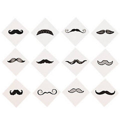 Fingerstache Temporary Assorted Pack (72/pack)
