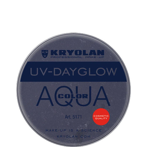 Kryolan Aquacolor UV-Dayglow - Cosmetic Black (8 ml)