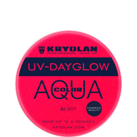 Kryolan Aquacolor UV-Dayglow - Cosmetic Red (8 ml)