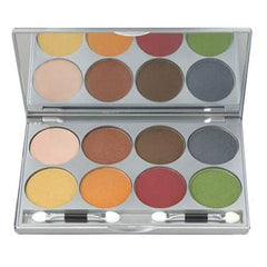 Kryolan 8 Color Warm Viva Pro Pressed Powder Palette 9108-FR2