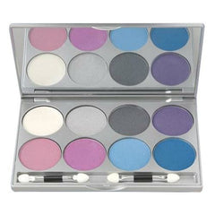 Kryolan 8 Color Cool Viva Pro Pressed Powder Palette 9108 -FR1