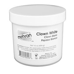 Mehron Clown White Cream Makeup (16 oz)