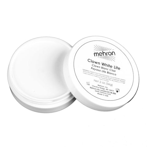 Mehron Clown White Lite Makeup (2 oz)