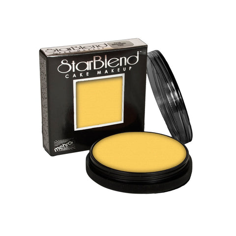 Mehron Yellow StarBlend Cake Makeup  (2 oz)