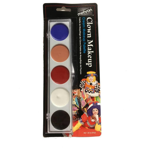 Mehron 5 Color Clown Palette