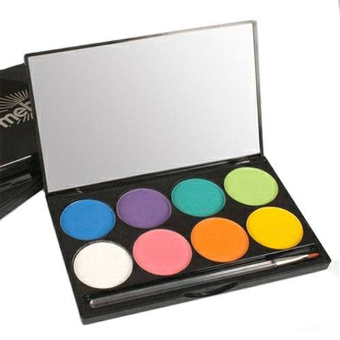 Mehron 8 Color INtense Pro Fire Pressed Powder Palette
