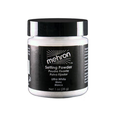 Mehron White UltraFine Makeup Setting Powder (1 oz)