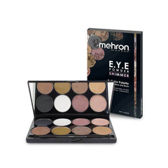 Mehron 8 Color Shimmer EYE Pressed Powder Palette