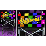 "Next In Line Mini Mat - Rainbow and Black Checkers Balloons (12"" x 24"")"