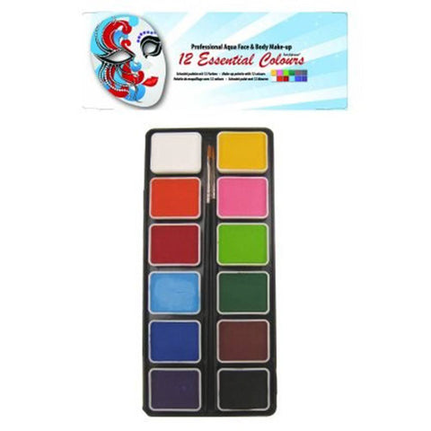 PartyXplosion 12 Color Regular Aqua Mini Palette (6 gm each)