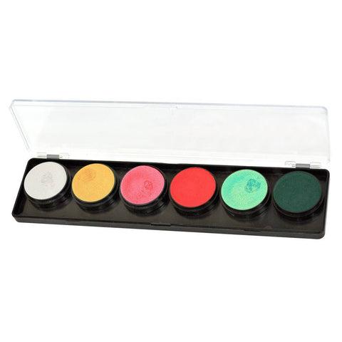 FAB 6 color Holly Jolly Face Paint Palette (11 gm)