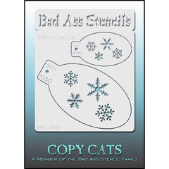 Bad Ass Copy Cat Stencil - Snowflakes - 9008