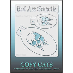 Bad Ass Copy Cat Stencil -  Skull - 9013