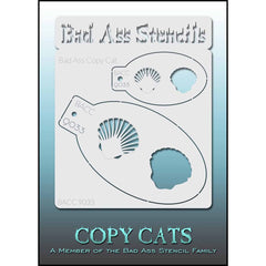 Bad Ass Copy Cat Stencil -  Shell - 9033