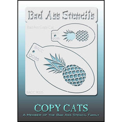 Bad Ass Copy Cat Stencil -  Pineapple - 9035