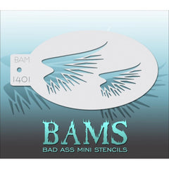 Bad Ass Mini Stencils - BAM1401 - Fringed Wings