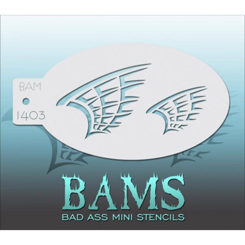 Bad Ass Mini Stencils - BAM1403 - Wings
