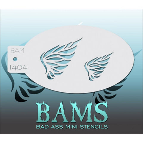 Bad Ass Mini Stencils - BAM1404 - Feathered Wings