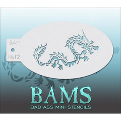 Bad Ass Mini Stencils - BAM1412 - Chinese Dragon