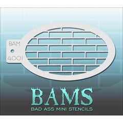 Bad Ass Mini Stencils - BAM4001 - Bricks