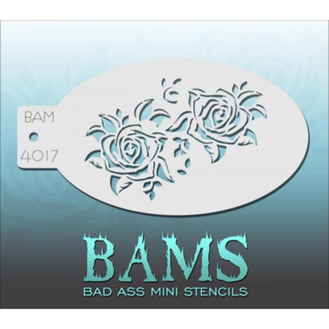 Bad Ass Mini Stencils - BAM4017 - Dual Roses