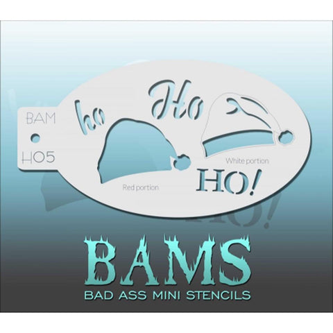 Bad Ass Mini Stencils  - BAMH05 - Ho, Ho, Ho!