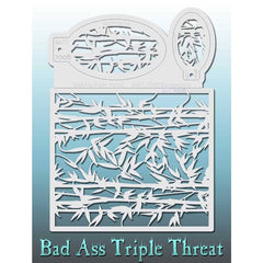 Bad Ass Triple Threat Stencil - Bamboozled - 7008