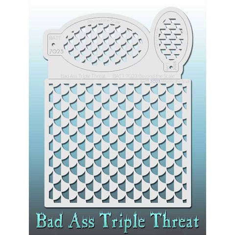 Bad Ass Triple Threat Stencil - Beyond the Scale - 7023