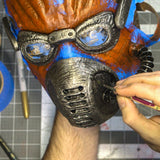 How to Make a Mask - Part 5: Leatherwork, Painting, and Finishing (Video Stream)