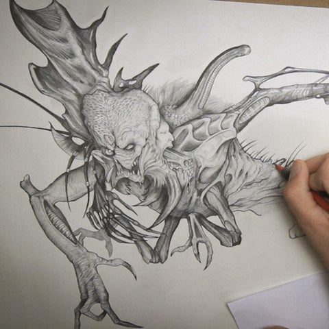 Monster Drawing Techniques - The Stan Winston Creatures (Video Stream)