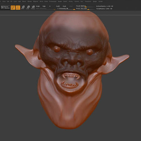 Zbrush Design - Dynamesh Sculpting Techniques (Video Stream)