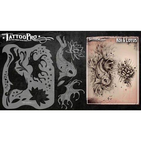 Tattoo Pro Koi & Lotus Series 1 Stencils