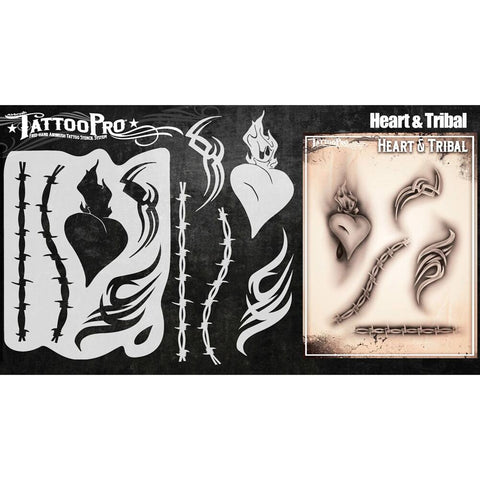 Tattoo Pro Heart & Tribal Series 4 Stencils