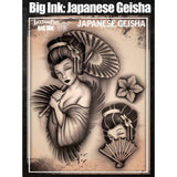 Tattoo Pro Geisha Big Ink Stencils