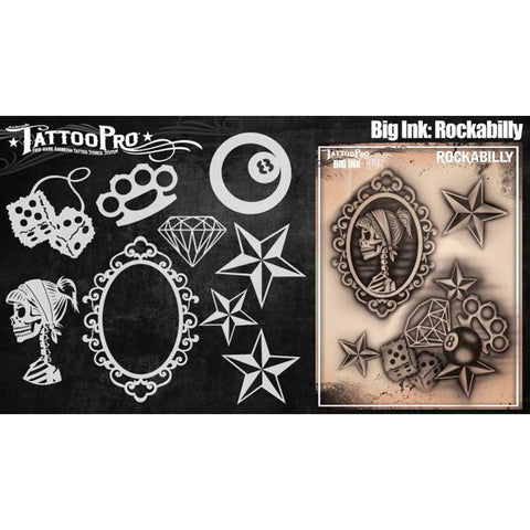 Tattoo Pro Rockabilly Big Ink Stencils