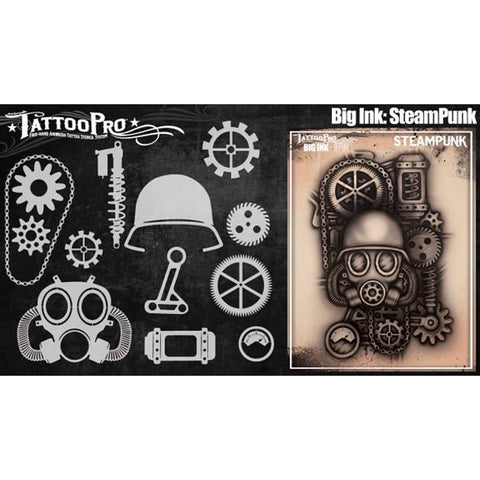 Tattoo Pro Steampunk Big Ink Stencils