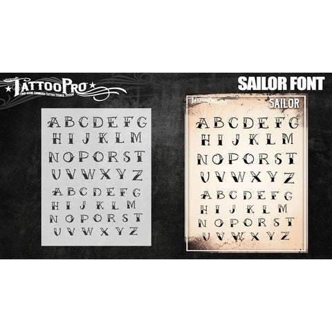 Tattoo Pro Sailor Font Stencils