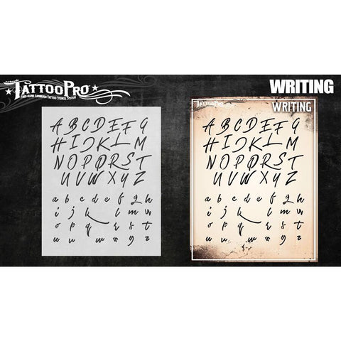 Tattoo Pro Writing Font Stencils