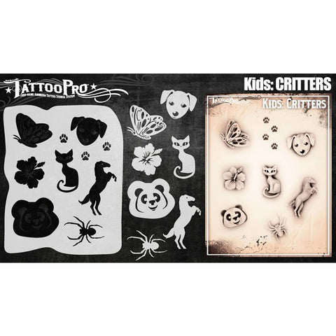 Tattoo Pro Critters Kids Series Stencils