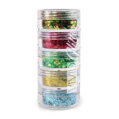 VIVID Glitter Christmas Miracle 5 Piece Glitter Stack