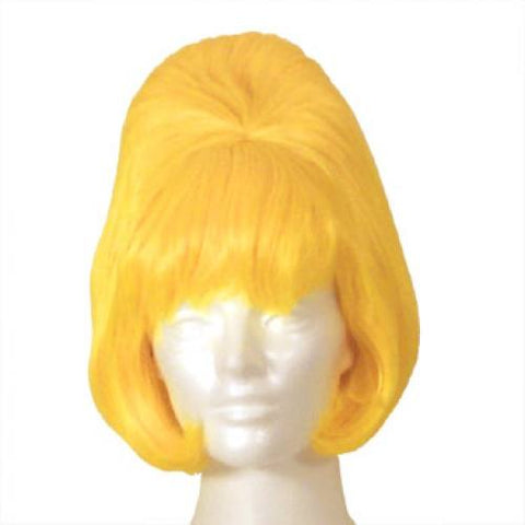 Beehive Yellow Halloween Costume Wig (West Bay)