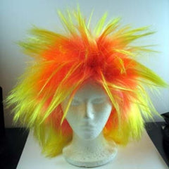 Loca Small Halloween Costume Wig - Orange/Yellow