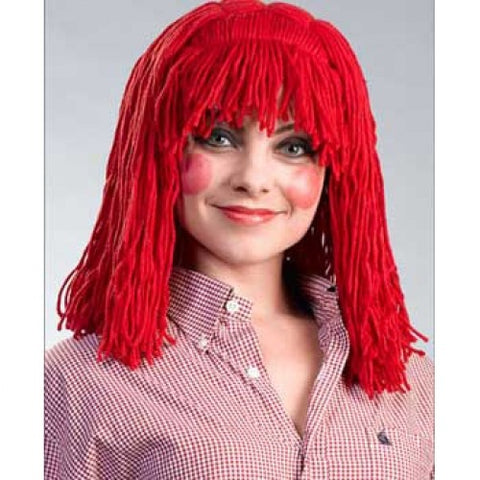 Raggedy Ann Cleo Halloween Costume Wig - Red