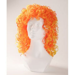 Two Tone Curly Halloween Costume Wig - Orange/Yellow