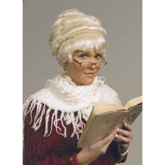 Mrs. Santa White Costume Wig (Alicia)
