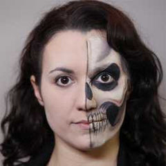 Diamond FX Half Face Skull Makeup Kit