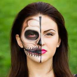 Half Face Skull Makeup Kit