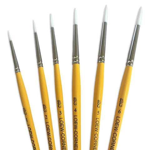 Loew-Cornell Gold Grip 5-Piece Round Brush Set (1, 2, 3, 4, 5, 6)