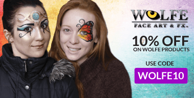 10% off on all Wolfe Face Paints!