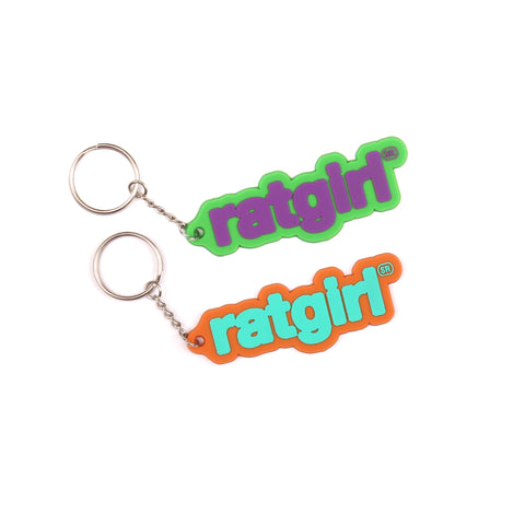 Ratgirl Rubber Keychain